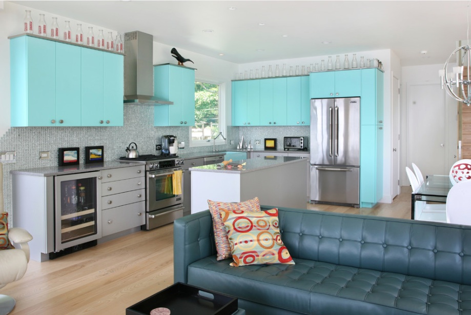 02 teal-kitchen-cabinets